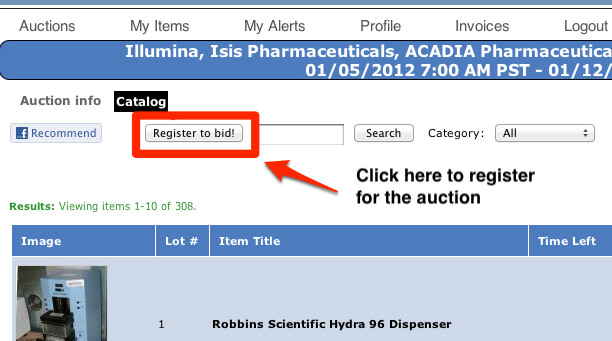 Auction Instructions | BioSurplus com